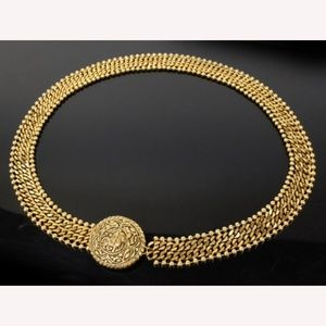 Chanel 2way Chain Belt and Necklace Logo CC 234568